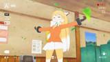 キタキツネさん、レインメーカーポーズを堪能する。
