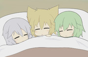 寒い日の就寝