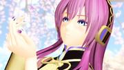 どら式巡音ルカさんと桜の花びら