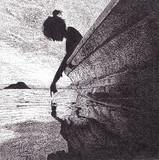 夕日と海と少女