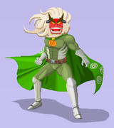【ドット絵】オシシ仮面をアメコミヒーローっぽく。【筋肉】