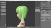 MMDモデル作成記録 髪修正とりあえず終わり