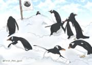 ジェンツーペンギン フラッグ