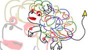 羝羊狂舞(音楽イラスト)