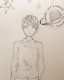 となりの坂田。さんを描いてみた
