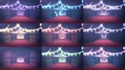 蝶とカーテンのステージ【ステージ配布】