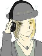 ヘッドホンon帽子