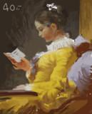 模写、見写し。読書する娘 - ジャン・オノレ・フラゴナール