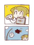 〇クソ2コマ漫画。