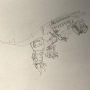 大型肉食恐竜型ハンター(未完成)