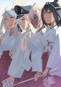 元旦特別任務:「巫女艦隊」を編成し、神社でアルバイトせよ!