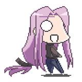 【ドット絵】コハエース版ライダーさん【Fate】