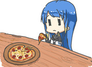 ピザの具が全て落ちた五月雨