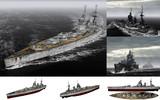 MMD用モブ超弩級戦艦1941(モブネイ)セット