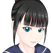 富士葵をトレースして塗ってみた