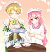 ハスとスイレンのお茶会