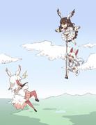 オイナリサマ、飛ぶ