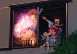 ガァルマゲドンと花火の見える民宿