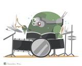 鉄のドラムを叩くボトムズ