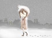 雪道のしぐれちゃん