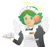 JR8DAGのAM & QRP ホームページ イメージキャラクター ゆめこ(秋葉原メイド天使風)