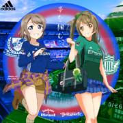 横浜F・マリノス×渡辺曜+松本山雅FC×南ことり