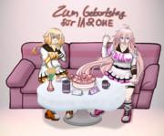 ARIA姉妹2018誕生日ケーキ