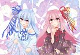琴葉姉妹~桜と金粉和え~
