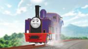 山にのぼる機関車