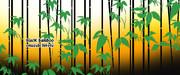 竹のある風景 20 ※黒竹・マグカップ仕様・おむ07943