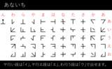 天名知鎮(アナイチ文字)フォント