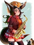 サックス狐♪