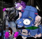 ロケット娘と戦車