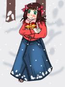 雪の中のバレンタインデー