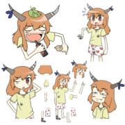 ターキー☆の中盤あたりに出てくる乞食PNGセット/分割素材
