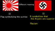 旭日旗とナチスドイツの国旗との違い(試作品)