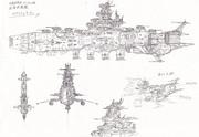 改彗星帝国カラクルム級鹵獲戦闘艦‐ホワイトレギオン