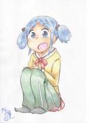 色鉛筆でちゃんみお(冬)