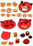 【MMD】にゃんこの食器、どら焼き【アクセサリ配布】