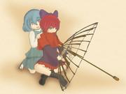 小傘と蛮奇