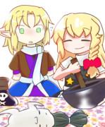 お菓子作りするSZ姉貴とJOKER姉貴