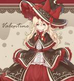 バレンタインカラー衣装魔理沙ちゃん