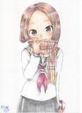 色鉛筆で高木さん(バレンタインデー)