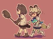 ヒグマとリカオン