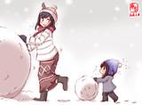 わんどろ雪だるまやましぐ