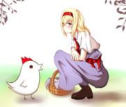 たてながアリスと中盤の鶏