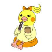 団子を食べるオカメインコのイラスト @ 板橋英希