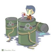 軍艦の美少女擬人化×ボトムズ