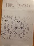 焼肉店のアンケートの裏に描いた落書き