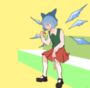 Cirno eating frituras